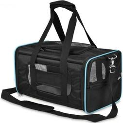 PPOGOO Pet Travel Carriers Soft-Sided for Cats and Dogs Medi