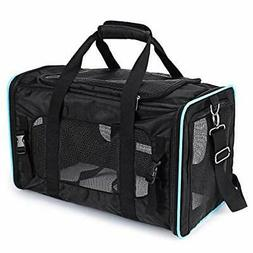 PPOGOO Pet Travel Carriers Soft-Sided for Cats and Dogs Airl