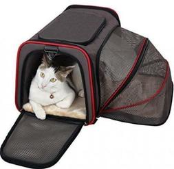 petsfit expandable travel dog carrier with fleece