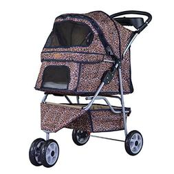 BestPet New 3 Wheels Pet Dog Cat Stroller w/RainCover
