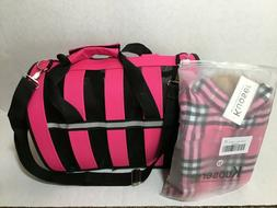 Pink Collapsible Dog Carrier Bag & Pink Dog Jacket Bundle! -