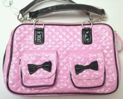 Pink Dog Carrier for Small Breeds with Black Trim by iPuppyO