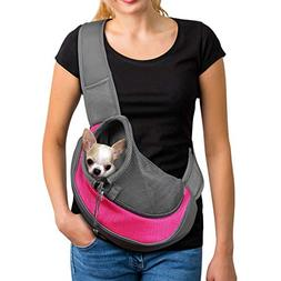 YUDODO Pink Pet Carrier, Soft Mesh Chihuahua Carrier Small D