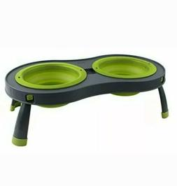 Dexas Popware for Pets Double Elevated Pet Feeder