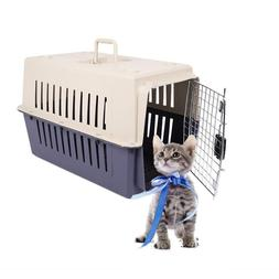 portable cat and dog plastic carrier cage