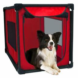 Portable Dog Kennel Soft Sided Pet Pooch Crate Travel Carrie
