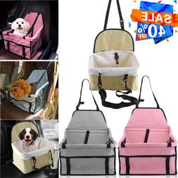 Portable Dog Puppy Cat Car Seat Carrier Belt Booster Travel