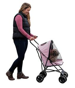 Portable Travel Dog Stroller Lightweight Mesh Ventilation Wa