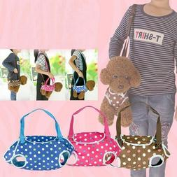 Portable Pets Carrier Small Cat Dog Carrier Dot Bag Sling Tr