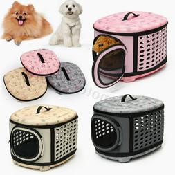 portable pet dog cat puppy carrier sided