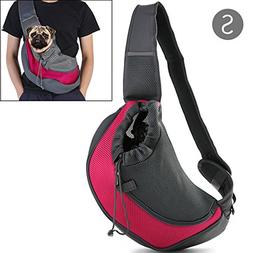 Pet Carrier Sling,Breathable Mesh Travel Single Shoulder Bag