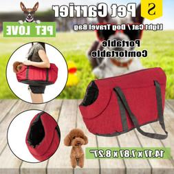 Portable Puppy Dog Cat Pet Carrier Soft Sided Shoulder Comfo