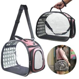 Portable Transparent Pet Carrier Cat Dog Puppy Travel Tote C
