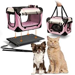 """PetLuv """"Pull-Along Pink Rolling Cat & Dog Carrier & Travel C"""