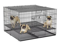 "MidWest Puppy Playpen with 1 Inch Mesh Floor Grid, 48""L"