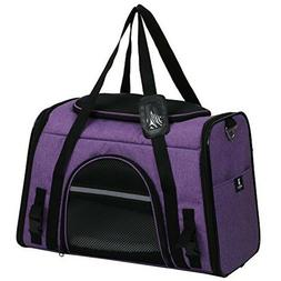 PURPLE Pet Carrier for Dogs & Cats, Airline approved soft si