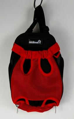 PAWABOO Red  Pet Carrier Backpack M Adjustable Front Cat Dog