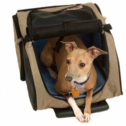 Snoozer Roll Around 4-in-1 Pet Carrier, Khaki, Black & Blue,