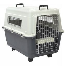 LARGE Rolling Travel Dog Crate Airline Approved Pet Carrier