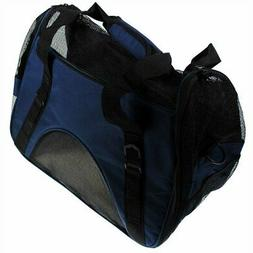 """S4O 17"""" x 8"""" x 11""""  Soft Sided Travel Pet Carrier Dog Tote C"""