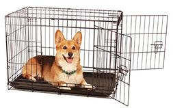 Carlson Secure and Compact Double Door Metal Dog Crate, Medi