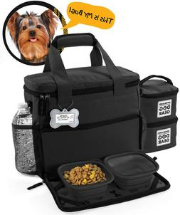 Dog Travel Premium Secure Tote Storage Bag With ID Tag For Y