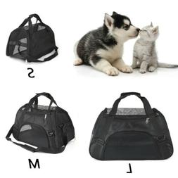 Small Cat/Dog Pet Carrier Soft Sided Comfort Bag Travel Case