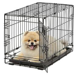 Small Dog Wire Crate Carrier With Divider 22'' Collapsible F