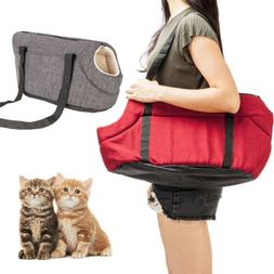 Small Medium Pet Carrier Tote Cat Dog Comfort Travel Hemp Ba