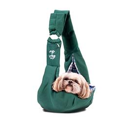 Soft Cross Body Sling Pet Carrier With Collar Harness Strap