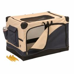 soft dog sided pet crate carrier portable