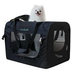 Pet Carrier Soft Sided Cage Travel Tote Sherpa Steel Frame S