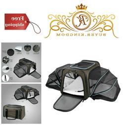 Soft Sided Expandable Travel Dog Carrier Fleece Mat Airline