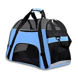 """Soft Sided Pet Carrier for Dogs Cats Puppies 19.5""""L x 9.5""""W"""