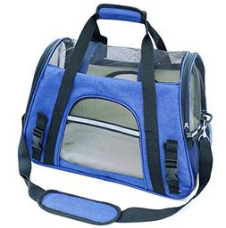 Soft Sided Pet Carrier Two-Tone Luxury Travel Tote Fleece Ca