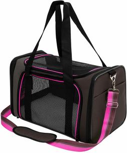 Soft-Sided Pet Travel Carrier, Airline Approved Dog Cat Carr