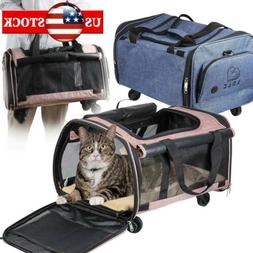 LDLC Soft-Sided Pet Travel Carrier with Wheels Airline Appro