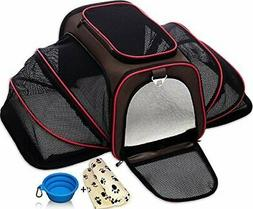 SoftSided Carriers Expandable Pet Cat For Small Dogs Cats Cr