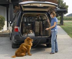 Solution Series Double Door Folding Metal Dog Crate for SUVs