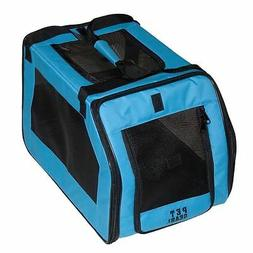 Pet Gear SP1020BA Small Soft Travel Pet Crate in Blue Aqua