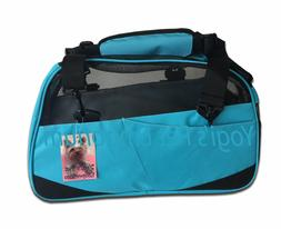 Teal Pet Carrier Soft sided small Dog/Cat travel bag airline