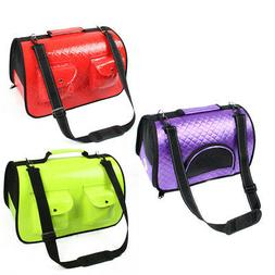 Travel faux Leather Meshy Soft Sided Zipper Two Pockets Pet