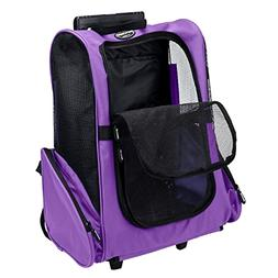 Traveling Pet Carrier/Backpack On Wheels Airline Approved Do