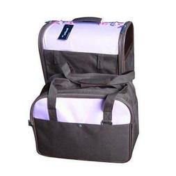 New Twin Pet Carrier Dog Cat Bag Tote Purse w/Wheels 11CP/DP
