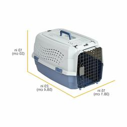 Two Door Top Load Pet Kennel Travel Crate Dog Cat Pet Cage C