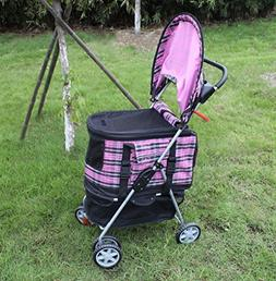 New Yellow Plaid Posh Pet Stroller
