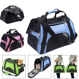 US Pet Dog Carrier Bag Soft Sided Travel Crate Cat Comfort T