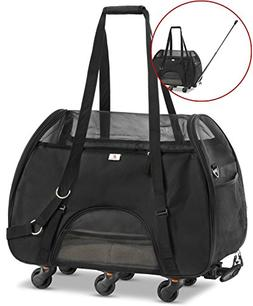 WPS Wheeled Airline Approved Pet Carrier for Small Pets. New