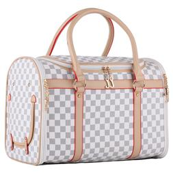 White Soft Crate Pet Carrier Cat Dog Cage Airline Approved T